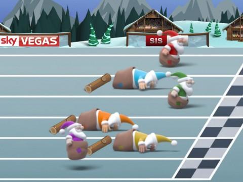 Sack Race Screen 2 SkyVegas logo